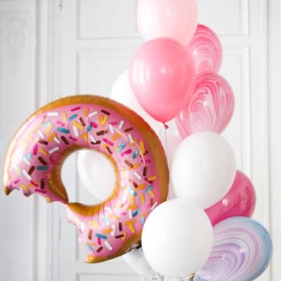 Шар Пончик и фонтан из шаров
