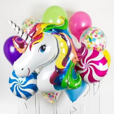 Гелиевые шары на день рождения Единорог