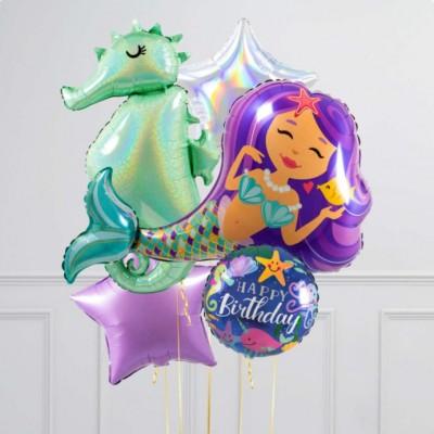 Воздушные шары Русалочка и Морской конек