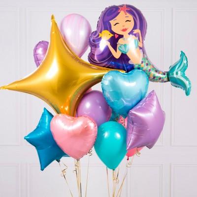 Надувные шары на день рождения Русалочка