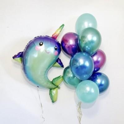 Фонтан из шариков Нарвал морской единорог