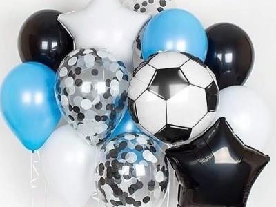 Шар Футбольный Мяч и букет из шариков