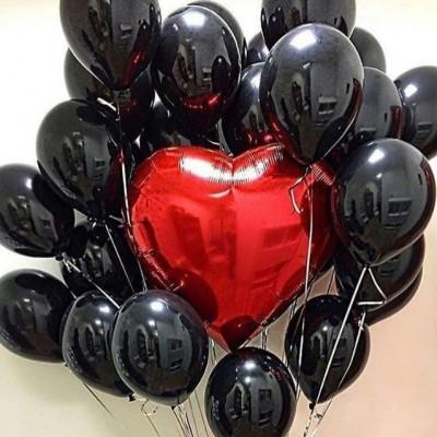 Гелиевые шарики Роковое Сердце