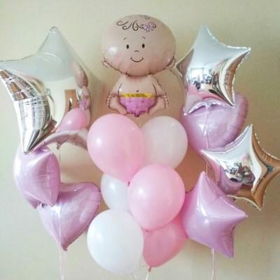 Воздушные шары на выписку Малышка