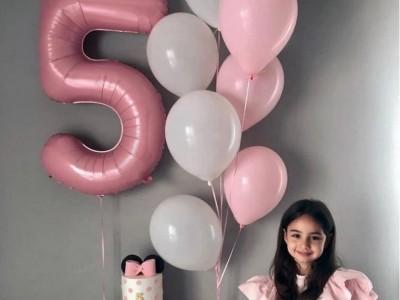 Шары на 5 лет девочке Розовая Пастель
