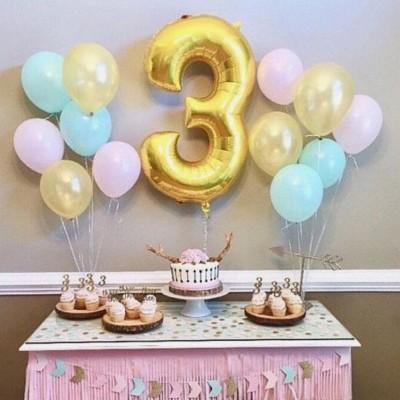 Воздушные шары 3 года Нежность