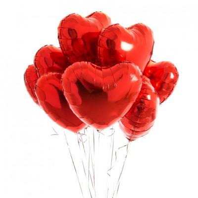 Шарики в виде сердца День Святого Валентина