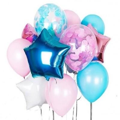 Набор воздушных шаров Микс Розовый Голубой