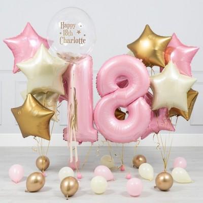 Композиции из шаров 18 лет Розовая Пастель