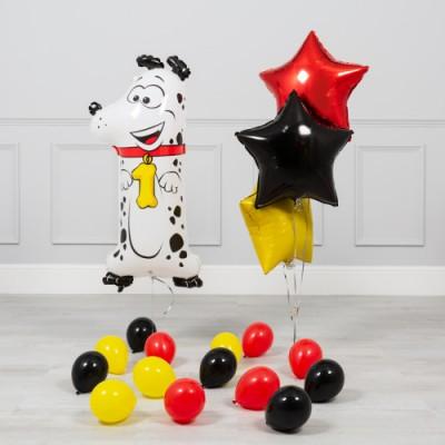 Композиция из шаров на 1 годик Далматин