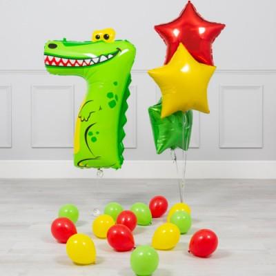 Шарики в виде цифр 7 лет Крокодил