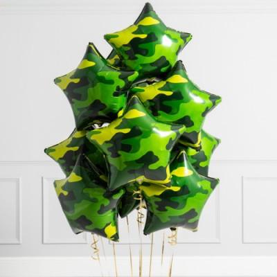 Воздушные шары на 23 февраля звезды Милитари