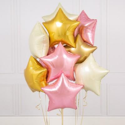 Фольгированные звезды Baby Pink