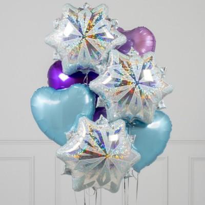 Воздушные шары на Новый год Снежинки