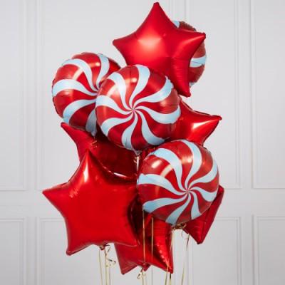 Фонтан из шаров Конфеты Рождество