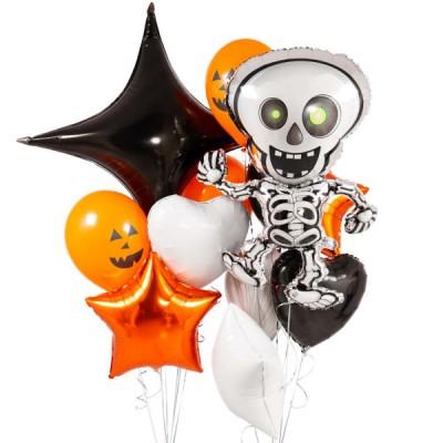Воздушные шары Скелет Хэллоуин