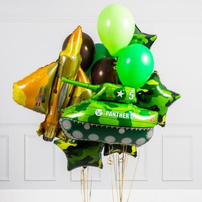 Шар фольга Танк шар Истребитель и букет из шаров