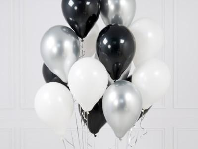 Черно Белые шары и шары Хром Серебро