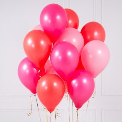 Ярко Розовые шары Любовь