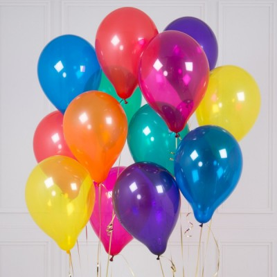 Цветные воздушные шарики Самоцветы