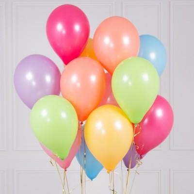 Цветные воздушные шары Пастельная Радуга