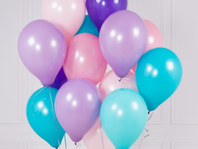 Розово Фиолетовые шары Русалочка