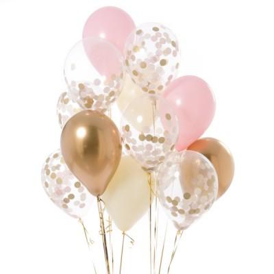Шары с конфетти Baby Pink