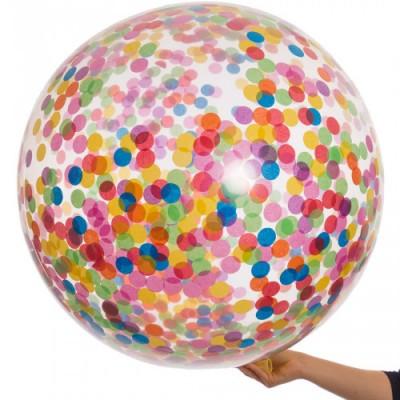 Большой шар с Конфетти Разноцветным