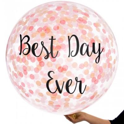 Гигантские воздушные шары с конфетти и персональной надписью