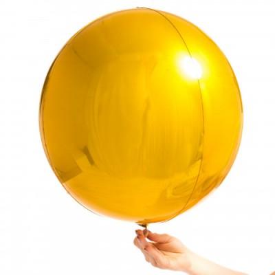 Шар фольга сфера Золото