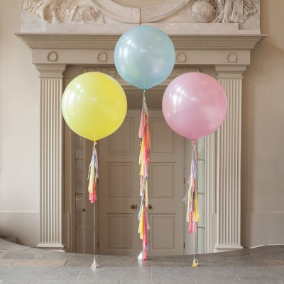 Огромные воздушные шары Макарун с гирляндами тассел