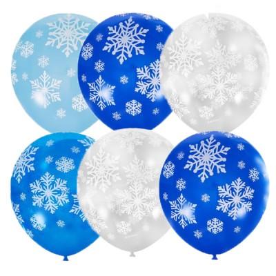 Воздушные шарики на Новый год Снежинки