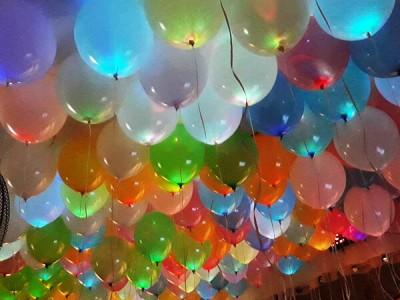 Светящиеся шары со светодиодами разноцветные