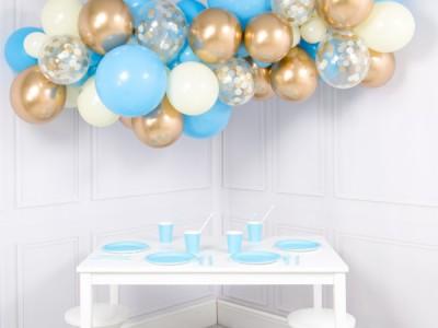 Гирлянда из шаров baby blue, 2 м