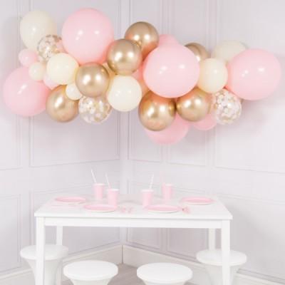 Гирлянда из воздушных шаров baby pink, 2 м