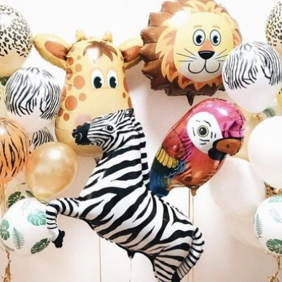 Фольгированные шары Животные Сафари
