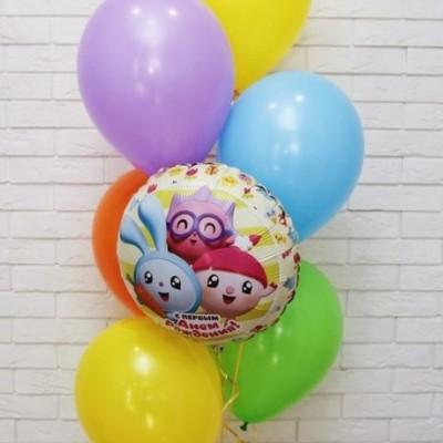 Воздушные шары Смешарики С первым днем рождения