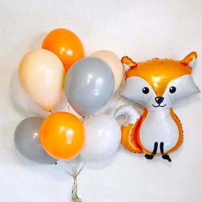 Воздушный шар Лиса и связка шаров