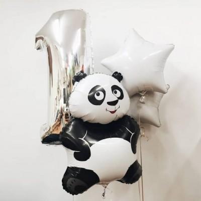 Шары на день рождения 1 годик Панда