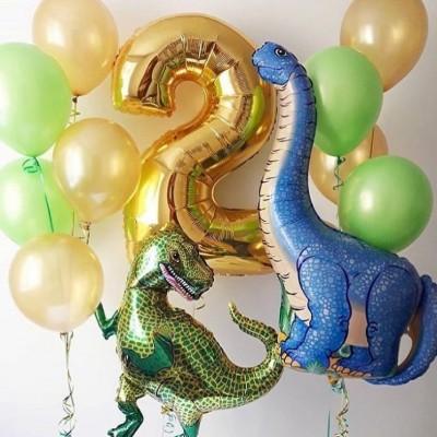Композиции из шариков Динозавры с цифрой 2
