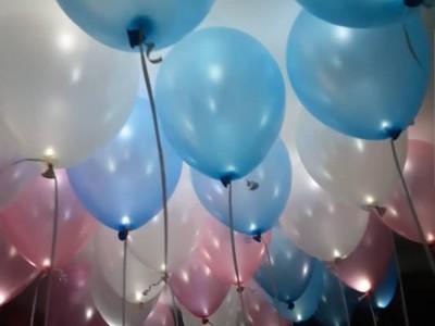 Шарики с Диодами голубые, розовые, белые