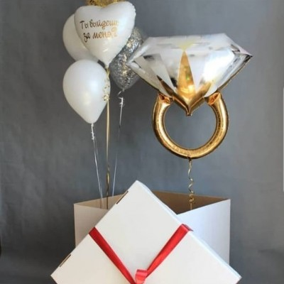 Коробка Сюрприз Обручальное кольцо
