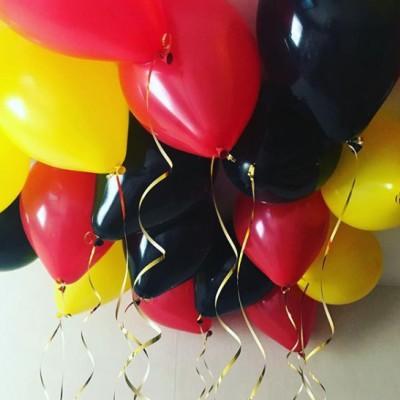 Шары под потолок Черные Желтые Красные