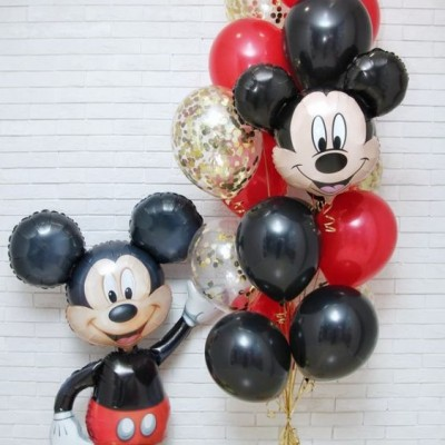 Шарики Микки Маус большой в композиции из шаров
