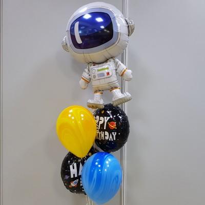 Фонтан из шариков для Мальчика и шар Космонавт