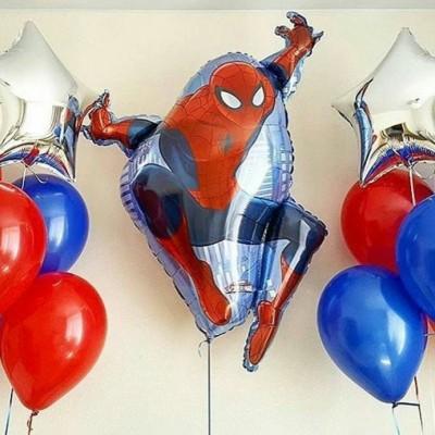 Человек Паук шар фольга в композиции из воздушных шаров