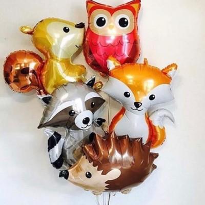 Фольгированные шары животные Лесные жители