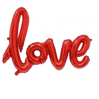 Фольгированные шарики буквы Love красные