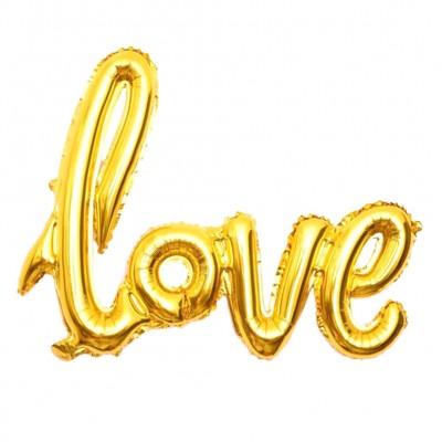 Воздушные шарики буквы Love золото