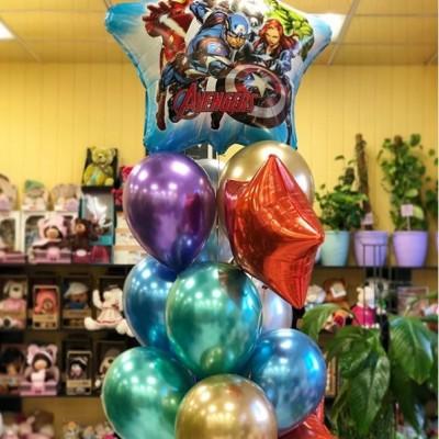 Фонтан из шаров на день рождения мальчику Мстители